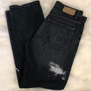 Calvin Klein Distressed Straight Fit Jeans Sz32/33